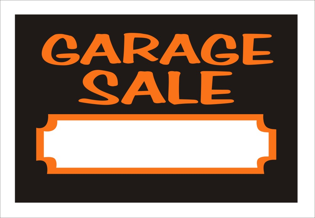 garage sale signs, garage sale styrene signs, styrene window signs, styrene door signs