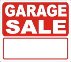 garage sale signs, garage sale yard signs, garage sale lawn signs