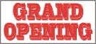 grand opening banner, pre printed banners, banners