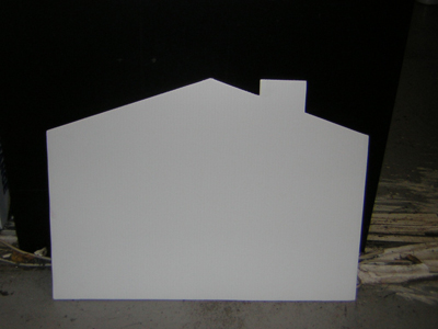house shape sign, blank die cut signs, blank die cut lawn signs, blank die cut yard signs