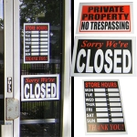 store signs, business signs, window signs