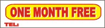 one month free banner, pre printed apartment banners, apartment banners