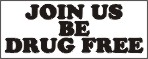 join us be drug free school banner, school banners, pre printed school banners