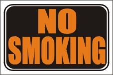 styrene signs, no smoking window signs, no smoking door signs, no smoking styrene signs