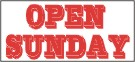 open sunday banner, pre printed banners, banners