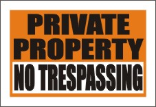 private property signs, styrene signs, styrene door signs, styrene window signs